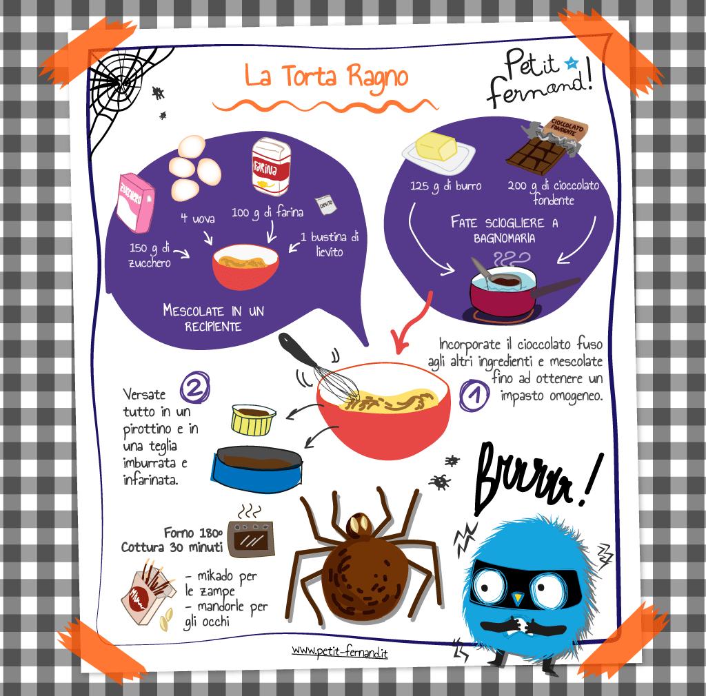 torta ragno ricetta per halloween