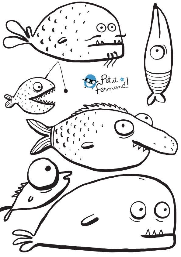 Pesce d 39 aprile da scaricare e stampare for Disegni di pesci da colorare e stampare