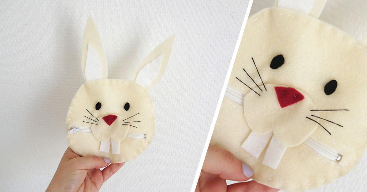 Portamonete coniglietto fai da te