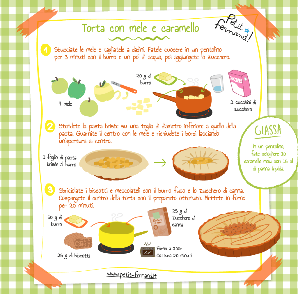 ricetta torta alle mele e caramello