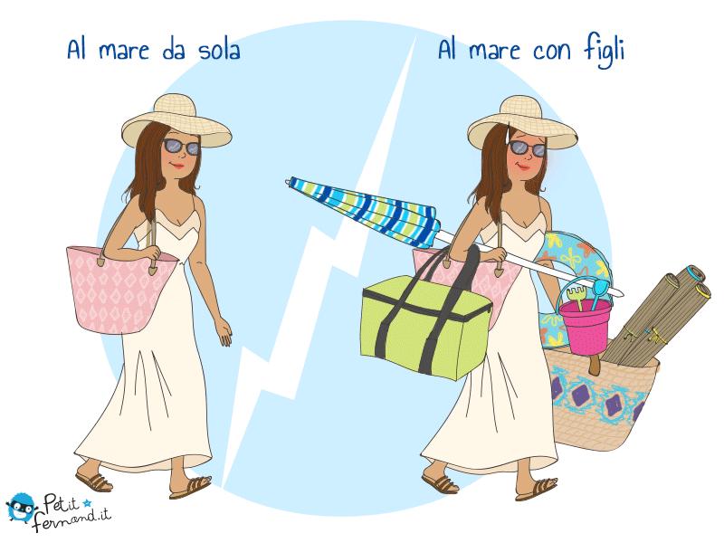 vignetta umoristica vacanze al mare