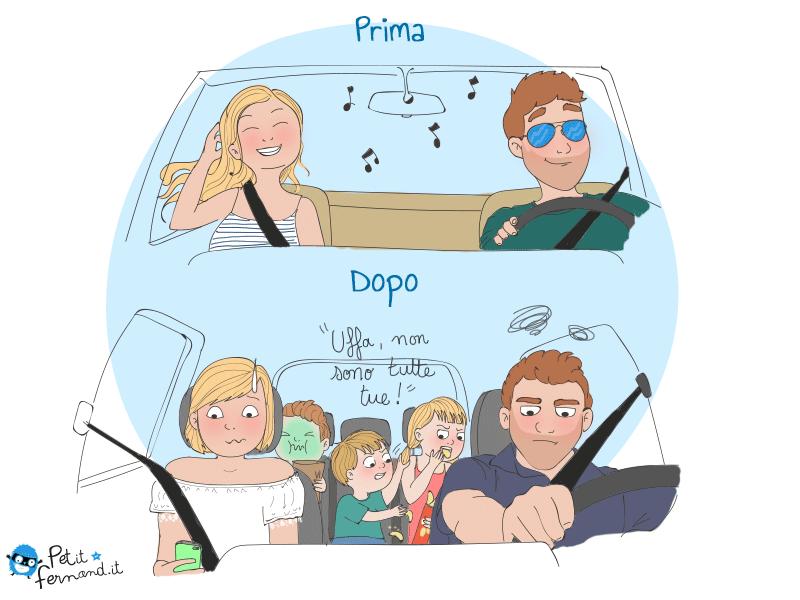 vignetta partenza con e senza figli
