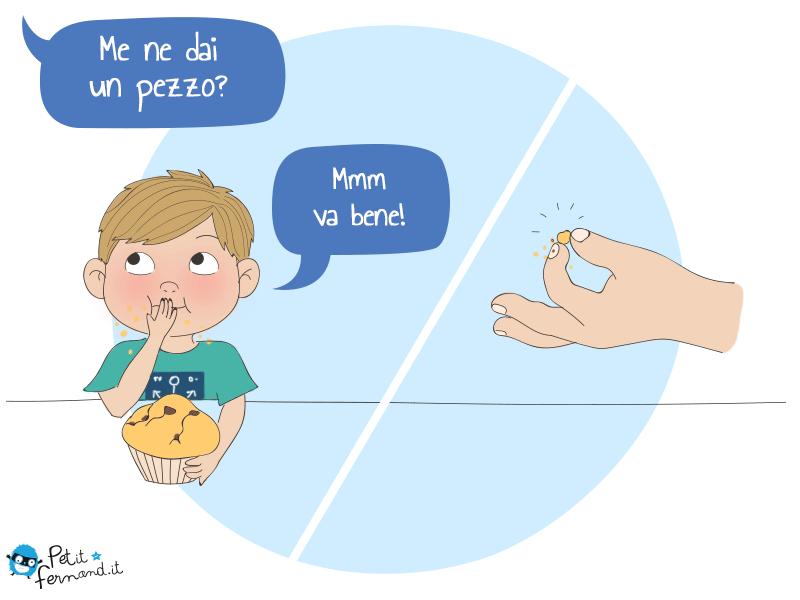 vignetta sui bambini il muffin