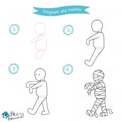 disegni da colorare mummia