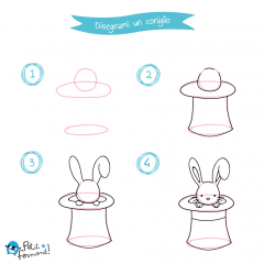disegni da colorare coniglio nel cilindro