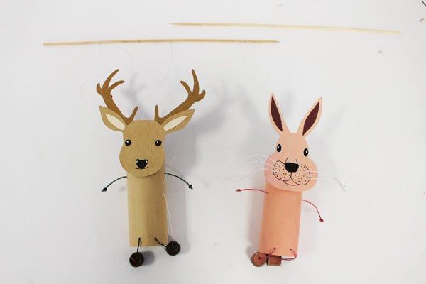 marionette fai da te animali del bosco