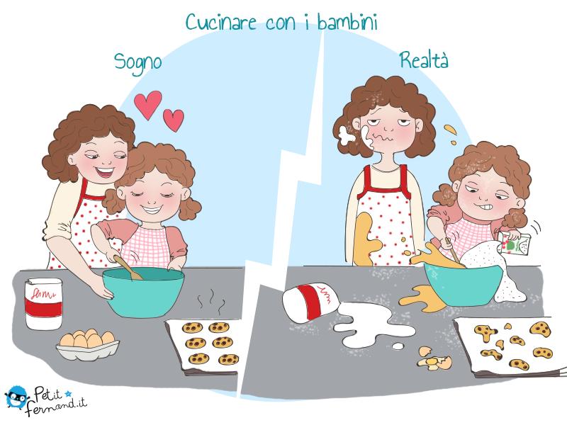 Vignetta umoristica cucinare con i bambini - Cucinare coi bambini ...