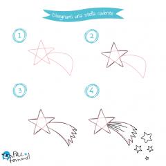 disegno da colorare stella cadente