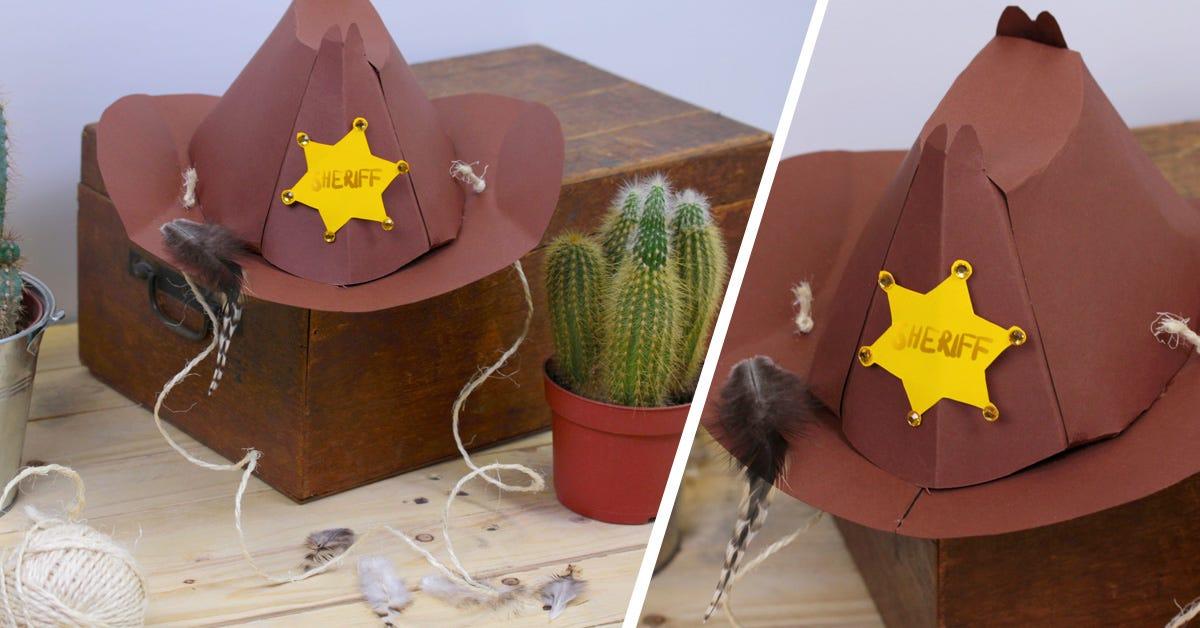 maschere di carnevale cappello da sceriffo o da cowboy fai da te 51ecb94382fb