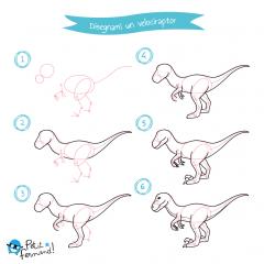 disegni da colorare dinosauri velociraptor