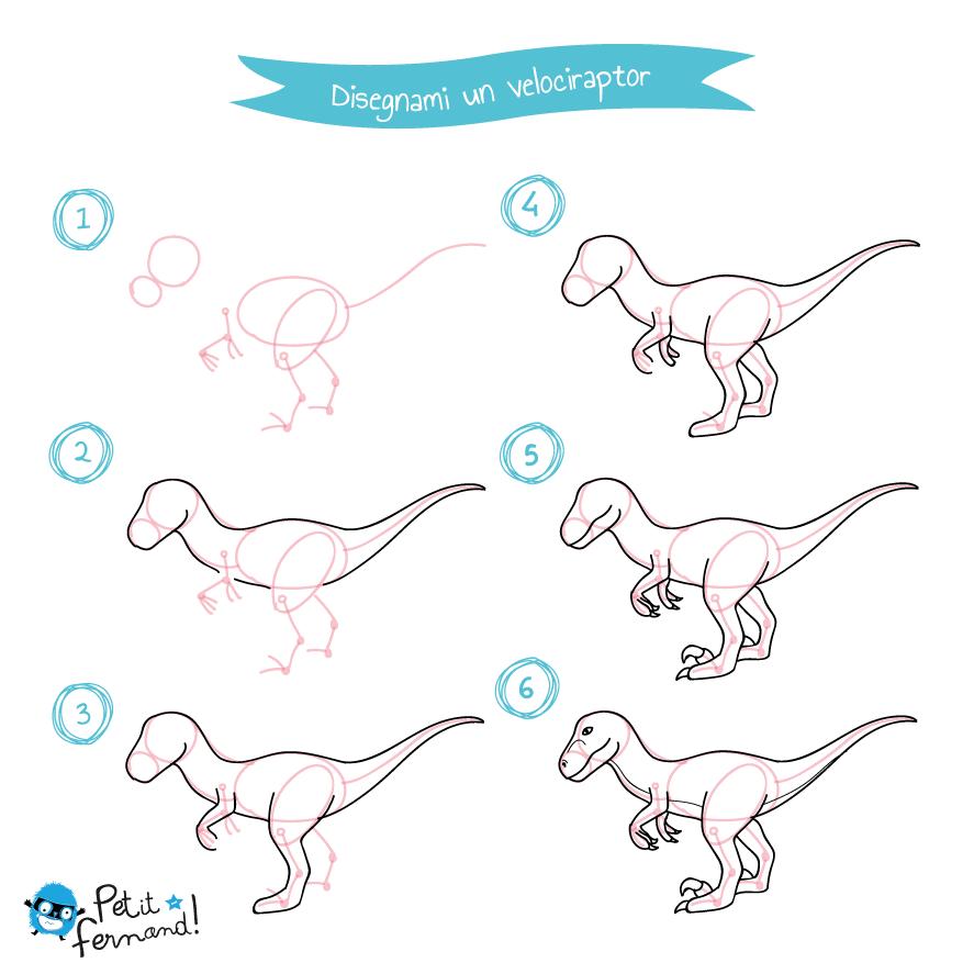 Disegno Del Velociraptor Petit Fernand It