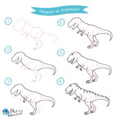 Disegni da colorare dinosauri tirannosauro