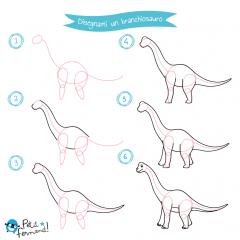 disegni da colorare dinosauri branchiosauro