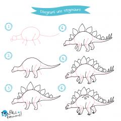 disegni da colorare dinosauri stegosauro
