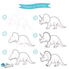 disegni da colorare dinosauri triceratopo
