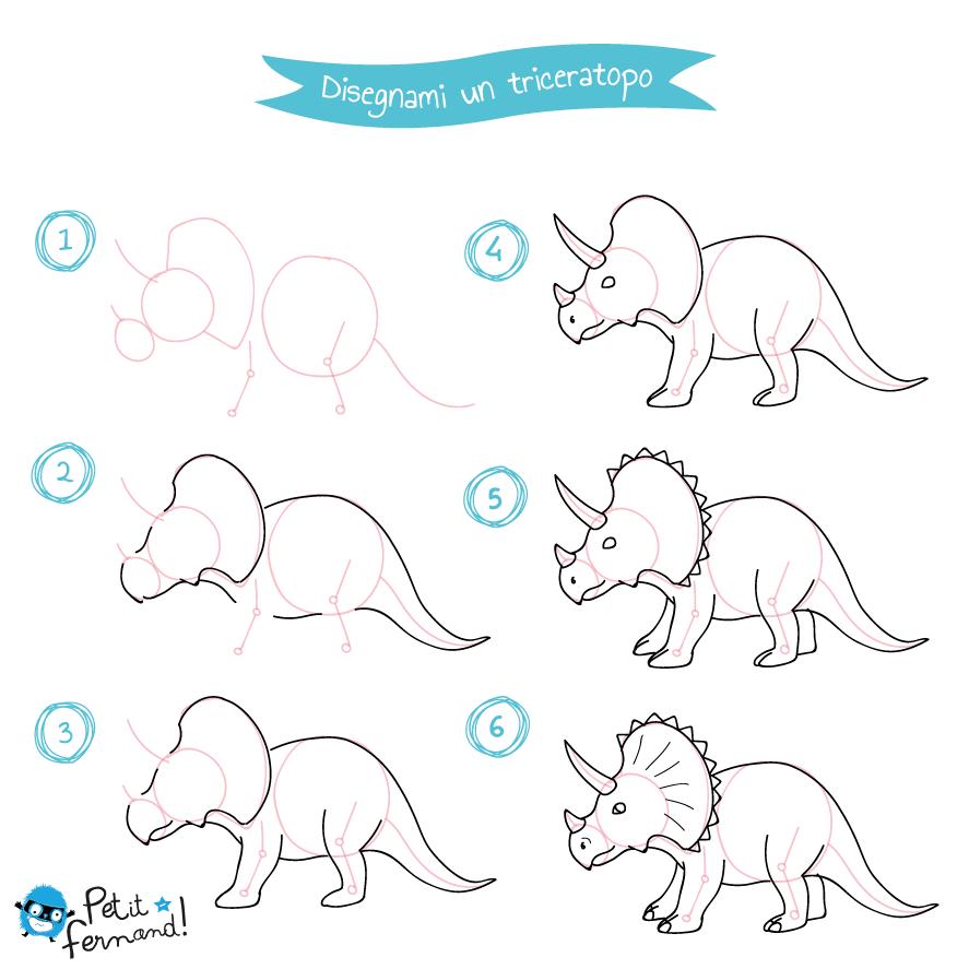 Disegno Del Triceratopo Petit Fernand It