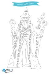 disegni da colorare mago merlino