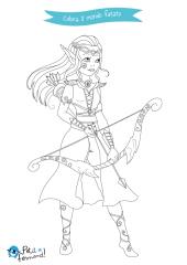 disegni da colorare elfo