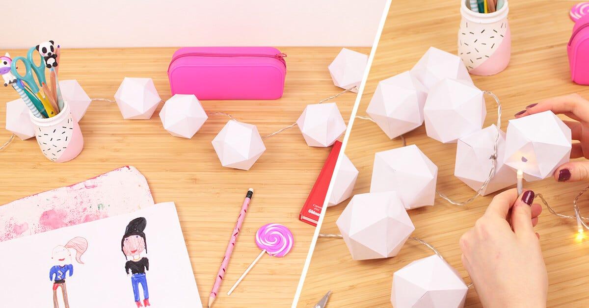 lavoretti decorazionr ghirlanda origami