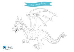 disegni da colorare drago