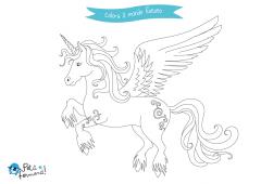 disegni da colorare unicorno