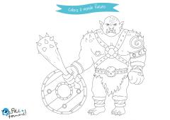 disegni da colorare troll