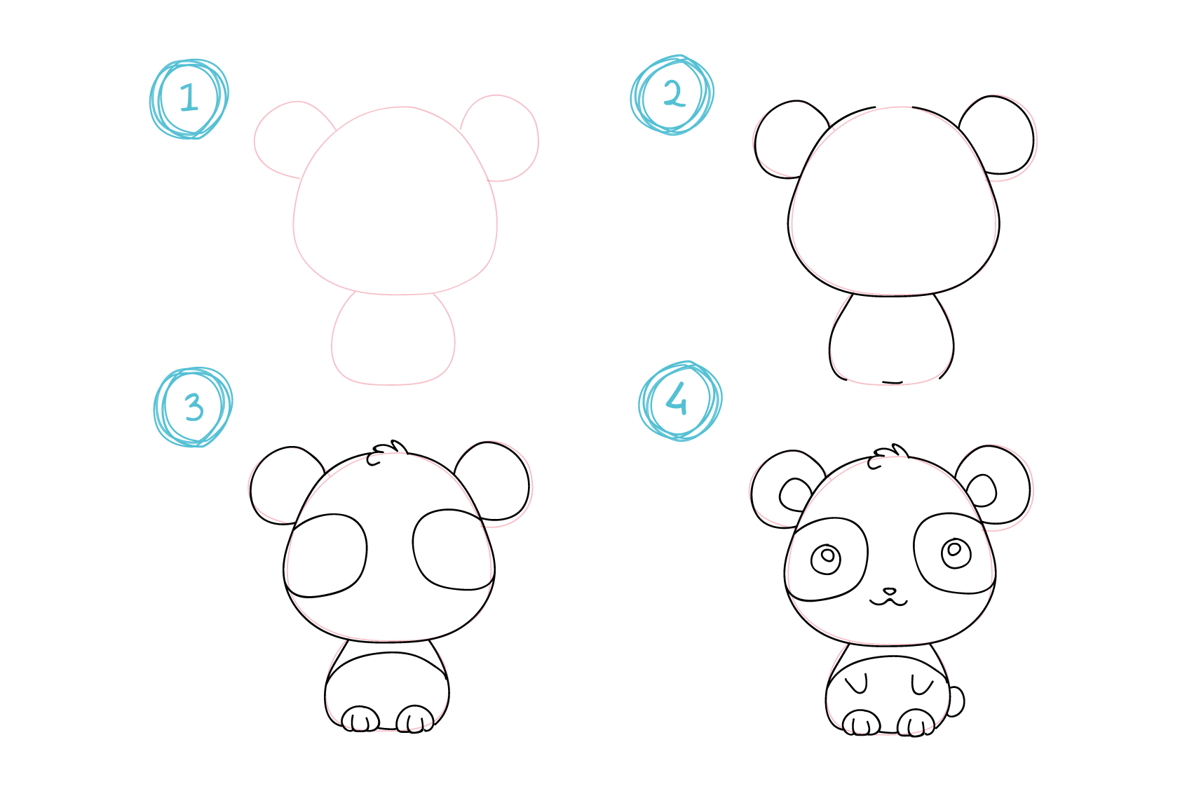 Disegni da colorare per bambini a tema kawaii gatto for Immagini disegni kawaii