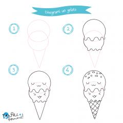 Disegni da colorare gelato