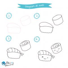 Disegni da colorare sushi