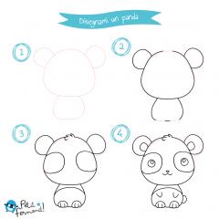 Disegni da colorare panda