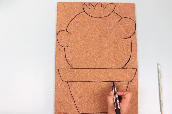 Eccezionale Lavoretti per bambini: come fare una bacheca in sughero | Petit  XD58