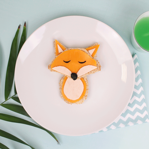 visual food sandwich a forma di volpe