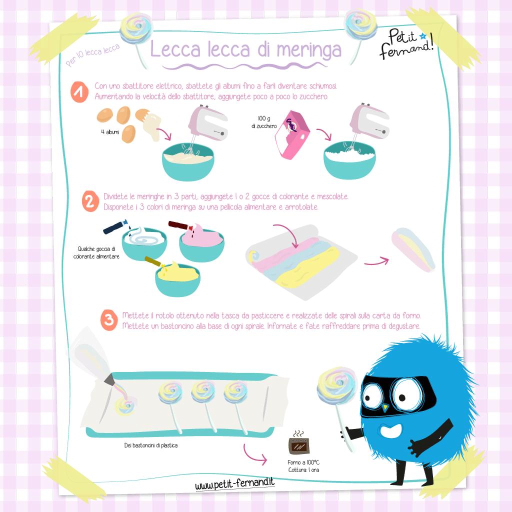 ricetta lecca lecca di meringa