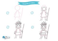 Disegni da stampare come disegnare gli indiani petit - Totem palo modelli per bambini ...
