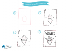 Impara a disegnare un cartello wanted