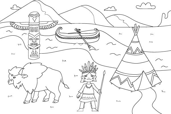 Disegni da stampare come disegnare gli indiani petit for Disegni della casa del merluzzo del capo