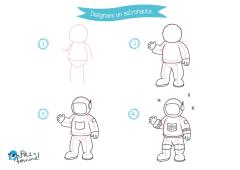 Disegno astronauta