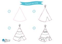 Disegni Da Stampare Come Disegnare Gli Indiani Petit Fernand