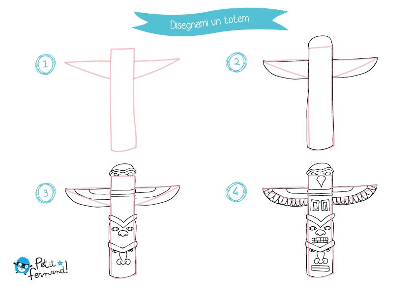 Disegni da colorare totem petit fernand it - Totem palo modelli per bambini ...