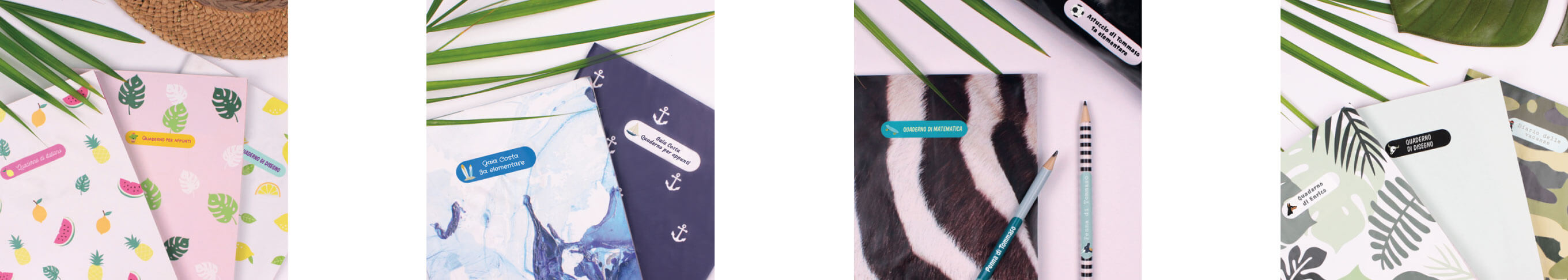 Pacchetto etichette per libri scuola