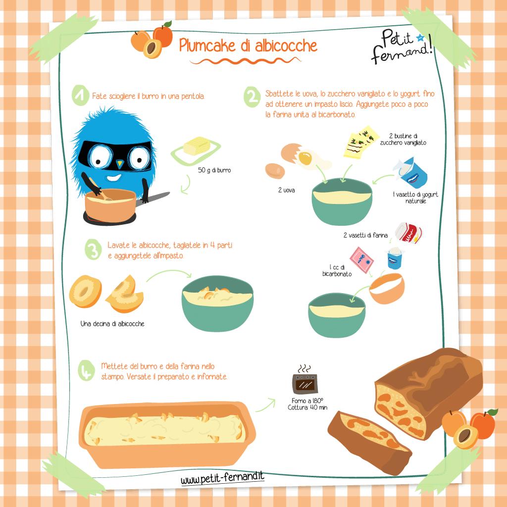ricetta illustrata torta albicocche
