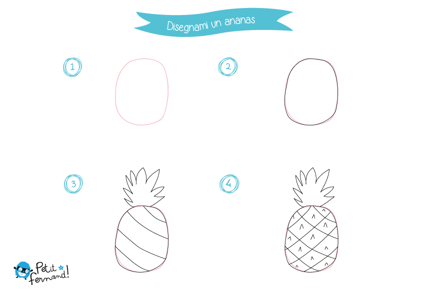 Disegni Da Colorare Ananas Petit Fernand It