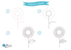 disegnare un girasole