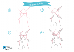 disegno mulino a vento