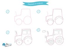 disegno trattore