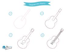 colora una chitarra