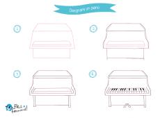 come disegnare un pianoforte