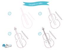 come disegnare un violino