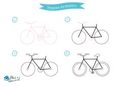 come disegnare una bicicletta