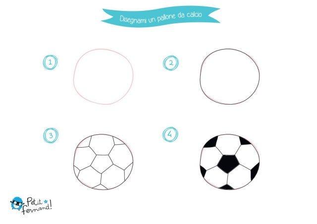 Disegno di un pallone da calcio petit fernand it - Pagina da colorare di un pallone da calcio ...